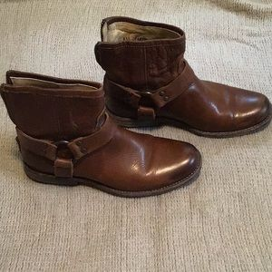 Frye Brown Leather Booties